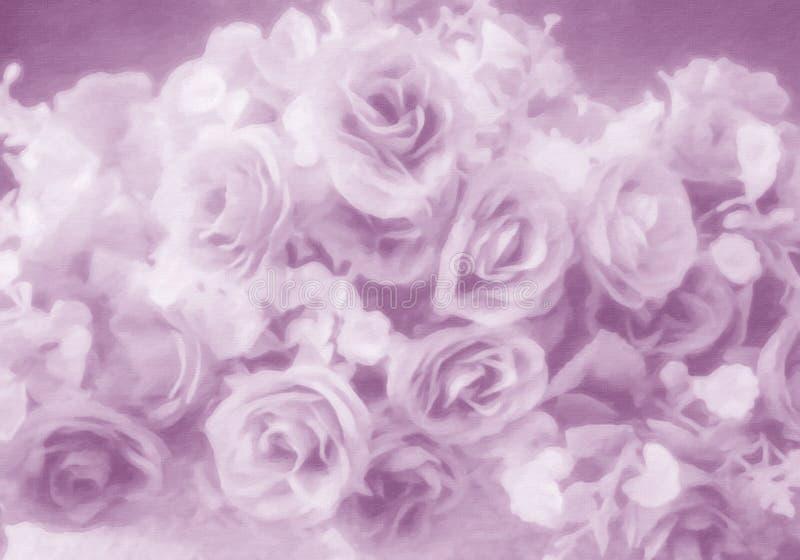 De abstracte zachte stijl nam bloem toe stock afbeelding