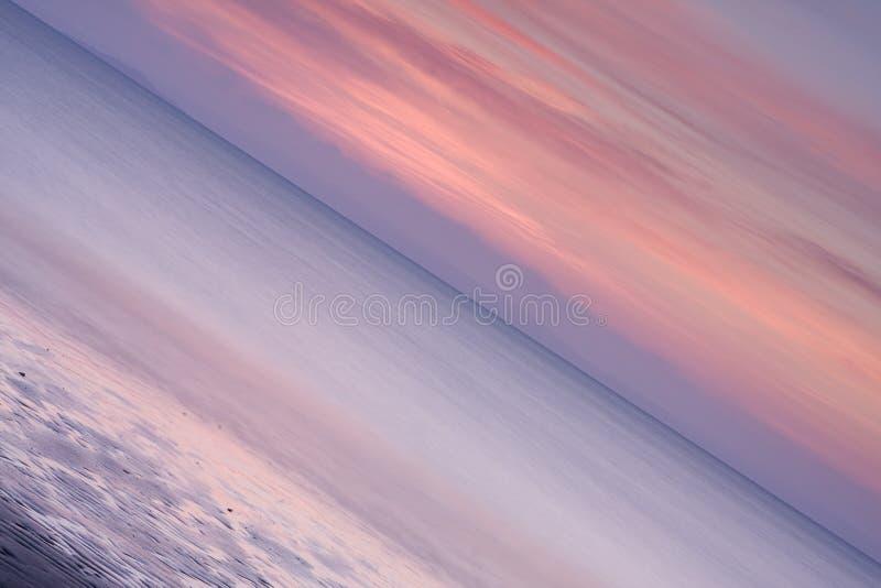 De abstracte Zonsondergang van het Zeegezicht stock foto