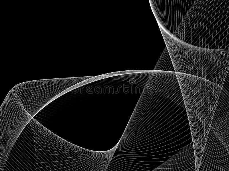 De abstracte Zwart-witte Achtergrond van de Netgolf vector illustratie