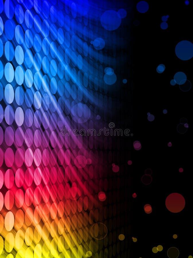 De Abstracte Zwarte Achtergrond van de disco vector illustratie
