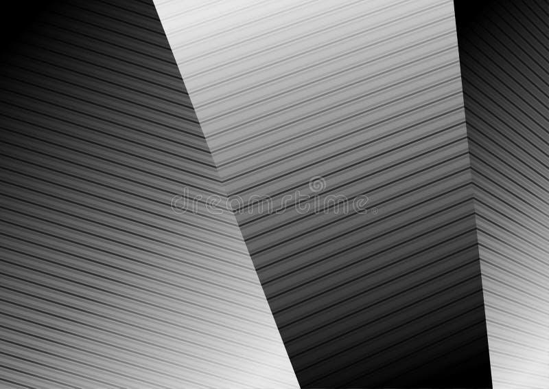 De abstracte zwarte witte vectorachtergrond van de lijnenbreking vector illustratie