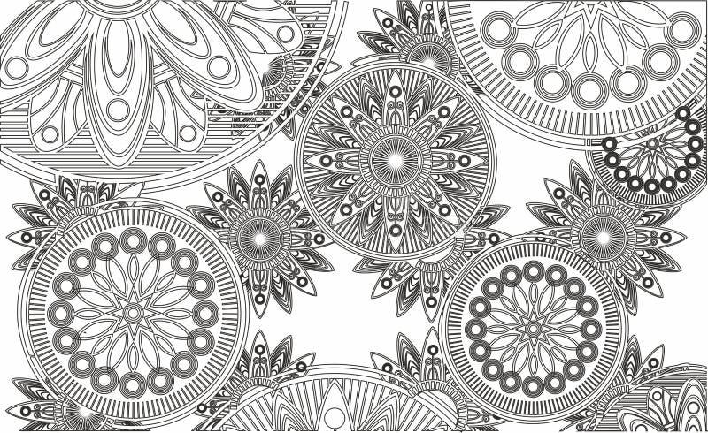 de abstractie, kant, siert openwork cirkels stock fotografie