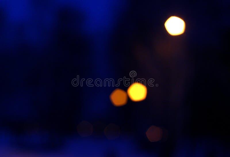De abstractie van de avondstad stock foto's