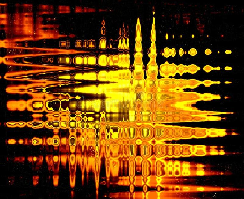 De abstractie van de vlam op glas vector illustratie