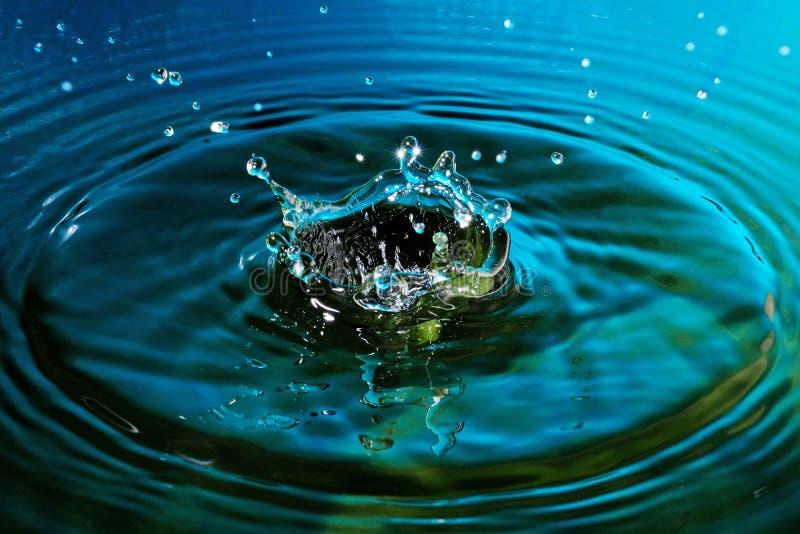 De abstractie van de waterplons stock foto's