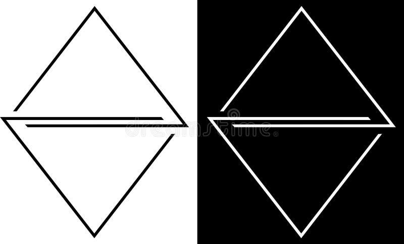 De abstractie van de overzichten van driehoeken is geïsoleerd en tegen een donker achtergrondontwerp bedrijfsembleem stock afbeeldingen