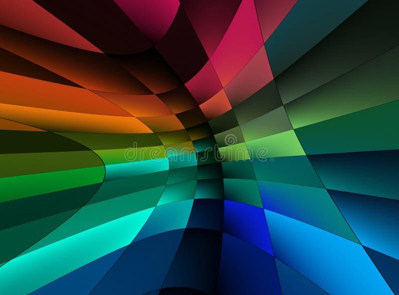 De abstractieachtergrond van de regenboog vector illustratie