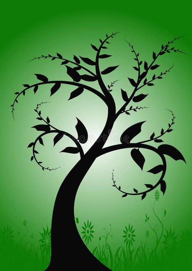 De abstrakcyjne Grunge drzewa wektora ilustracja wektor