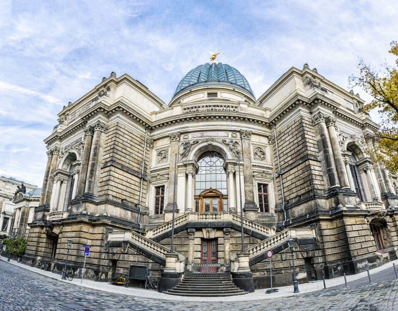 De Academie van Dresden van Beeldende kunsten, Duitsland stock foto