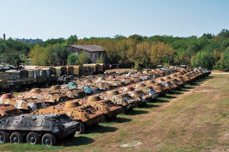 De accumulatie van militaire apparatuur stock fotografie
