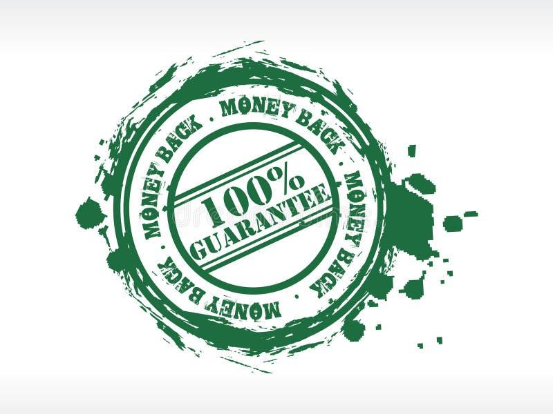 De achter rubberzegel van het geld vector illustratie