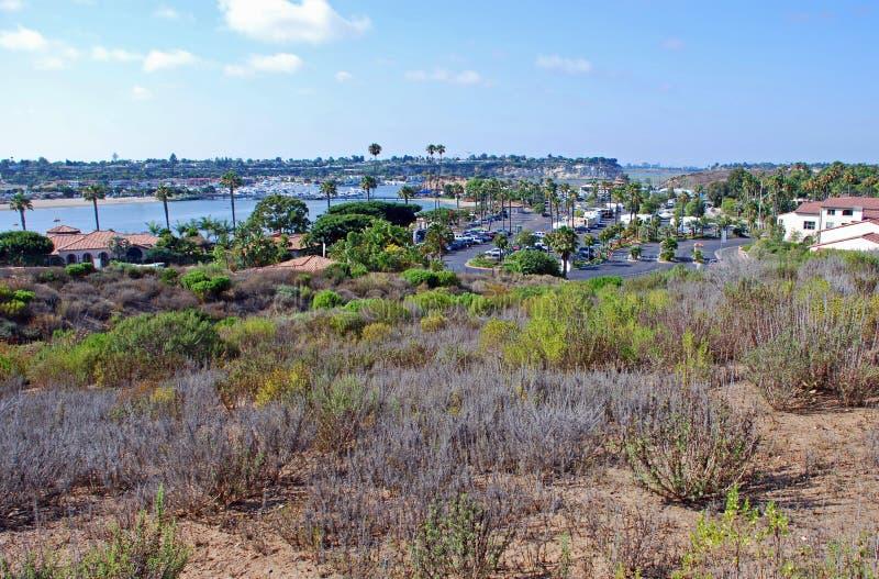 De Achterbaai van New Port Beach, Californië royalty-vrije stock foto's