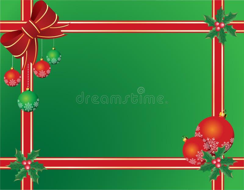 De achtergrond of de kaart van Kerstmis royalty-vrije illustratie