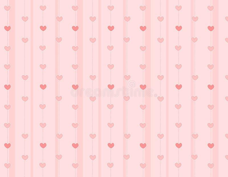 De achtergrond/de textuur van harten royalty-vrije illustratie