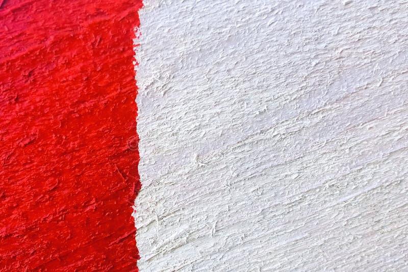 De achtergrond of de textuur van rood-wit schilderde houten raadsclose-up royalty-vrije stock foto