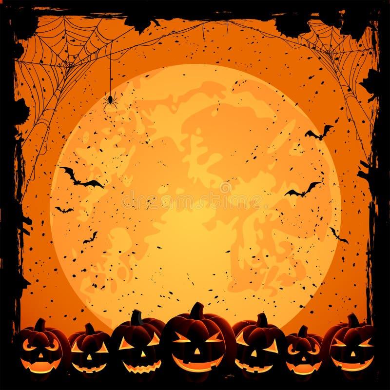 De achtergrond en de pompoenen van Halloween vector illustratie