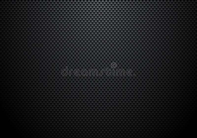 De achtergrond en de textuur van de koolstofvezel met verlichting Materieel behang voor de auto het stemmen of dienst vector illustratie