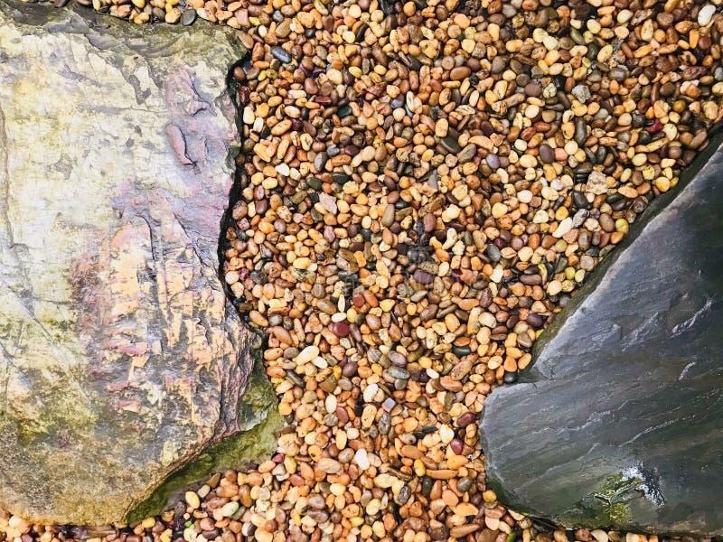 De achtergrond en de textuur van de steenvloer stock afbeelding