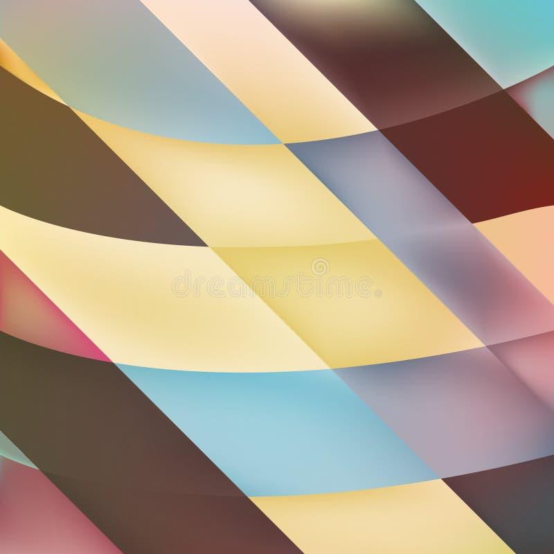 De achtergrond met geometrisch mozaïek geeft in kleuren gestalte stock illustratie