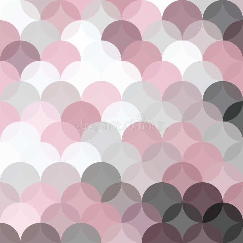 De achtergrond omcirkelt Patroon met Transparant Roze en Grey Shades royalty-vrije stock foto's