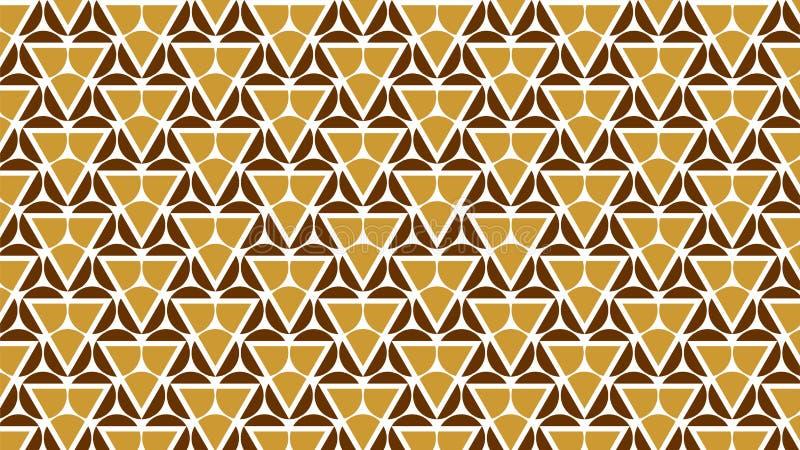 De achtergrond is samengesteld die uit cirkels en driehoeken samen in prachtig met elkaar worden verbonden en aantrekkelijk royalty-vrije illustratie