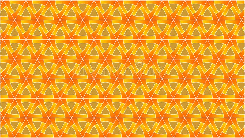 De achtergrond is samengesteld uit driehoeken en gekruiste kringen samen in prachtig en aantrekkelijk royalty-vrije illustratie