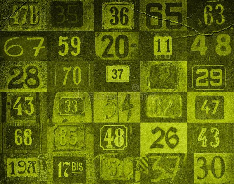 De achtergrond van aantallen vector illustratie