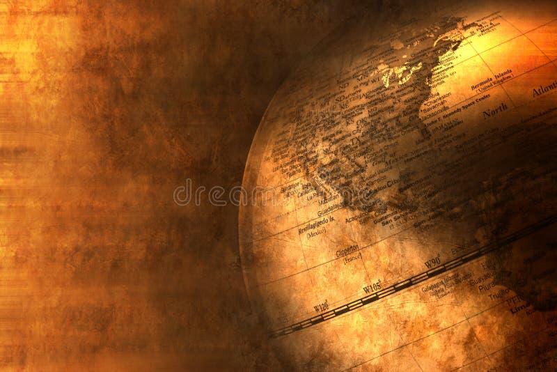 De Achtergrond van Amerika van de Bol van de wereld stock foto