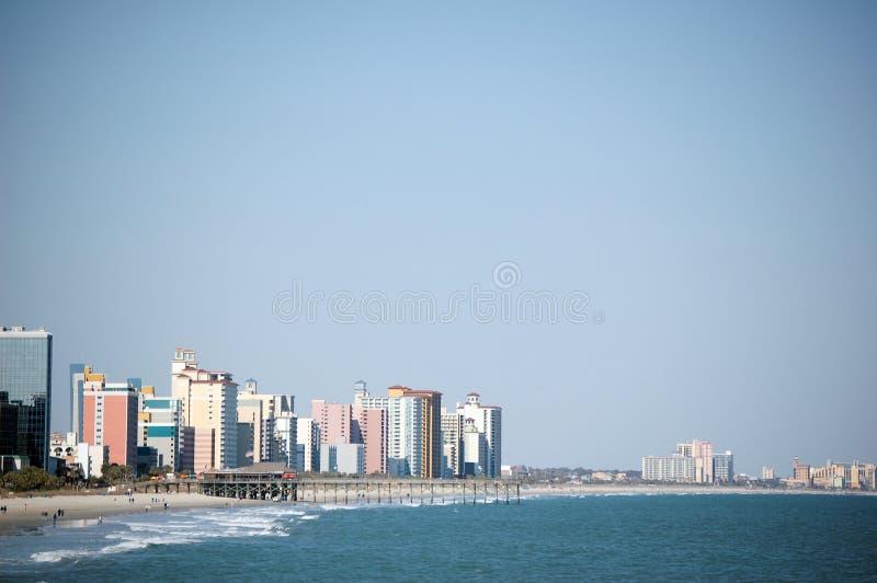 De Achtergrond van Beachscape stock afbeelding