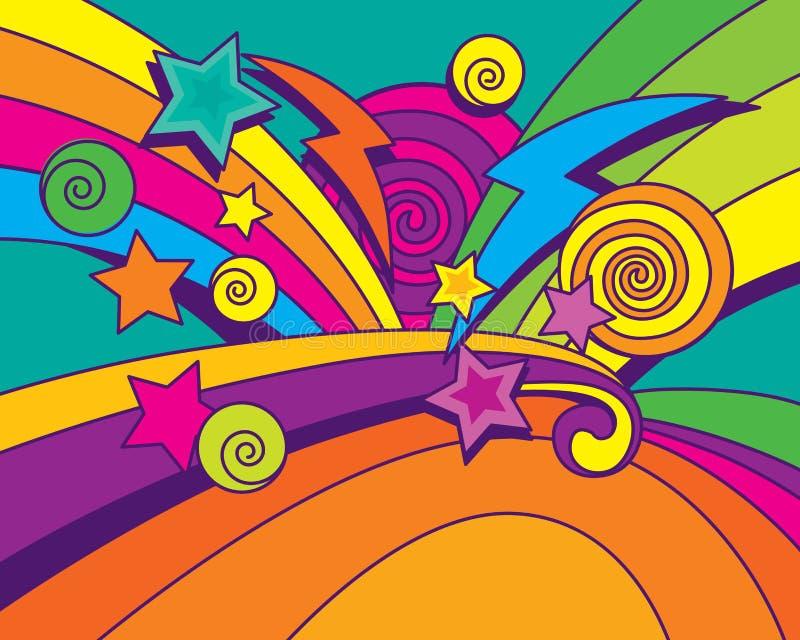 De Achtergrond van Big Bang!!! stock illustratie