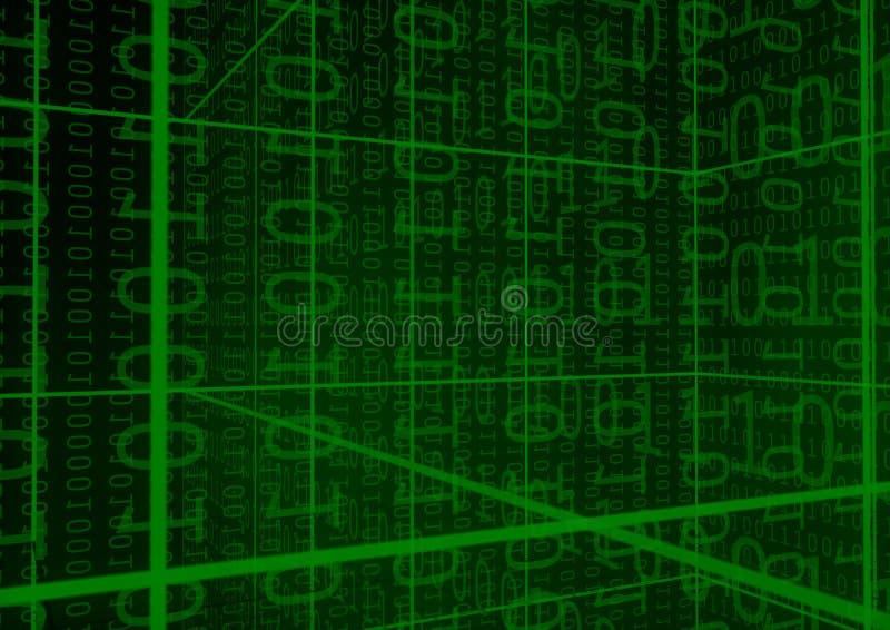 De achtergrond van binaire Cijfers stock illustratie