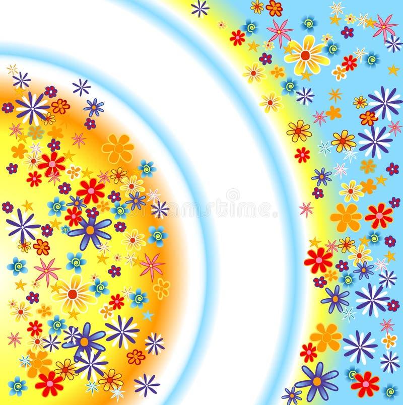 De achtergrond van bloemen royalty-vrije illustratie