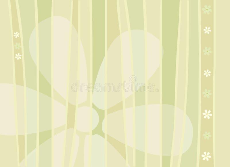 De Achtergrond van bloemen en van Strepen stock illustratie