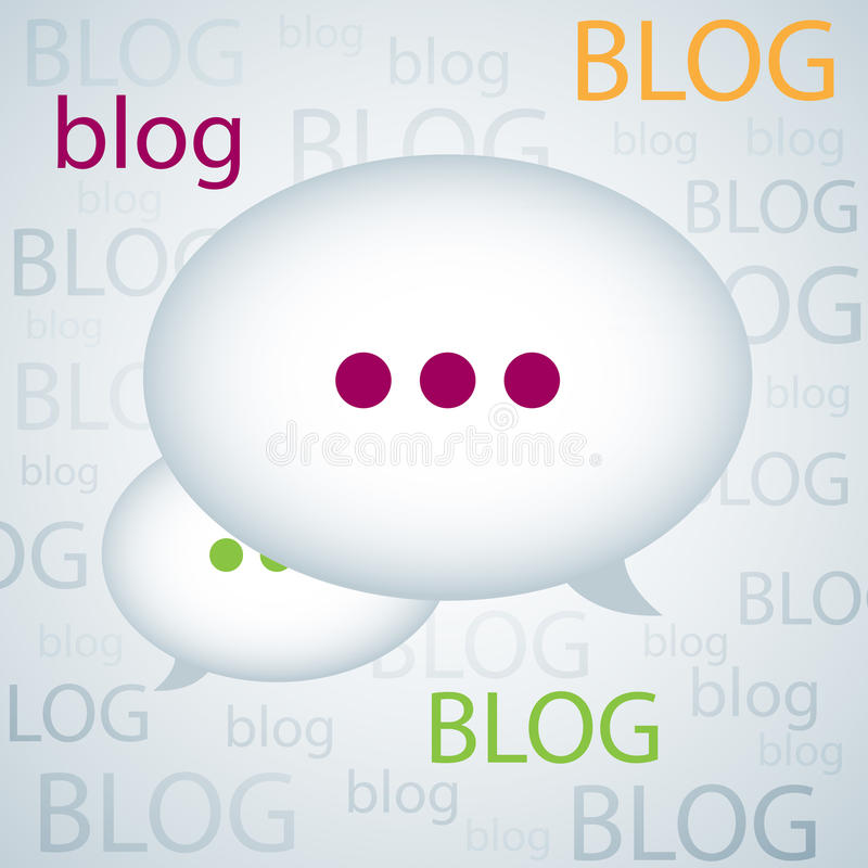 De achtergrond van Blog royalty-vrije illustratie