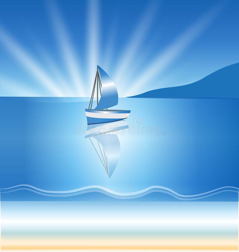 De achtergrond van bootgolven stock illustratie