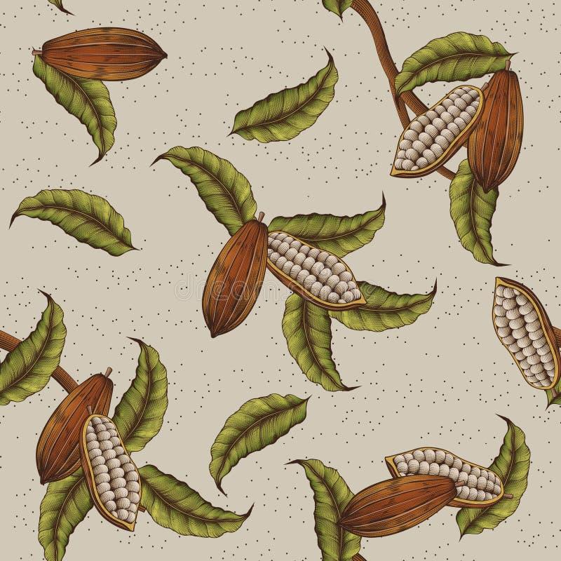 De achtergrond van de cacaoinstallatie vector illustratie