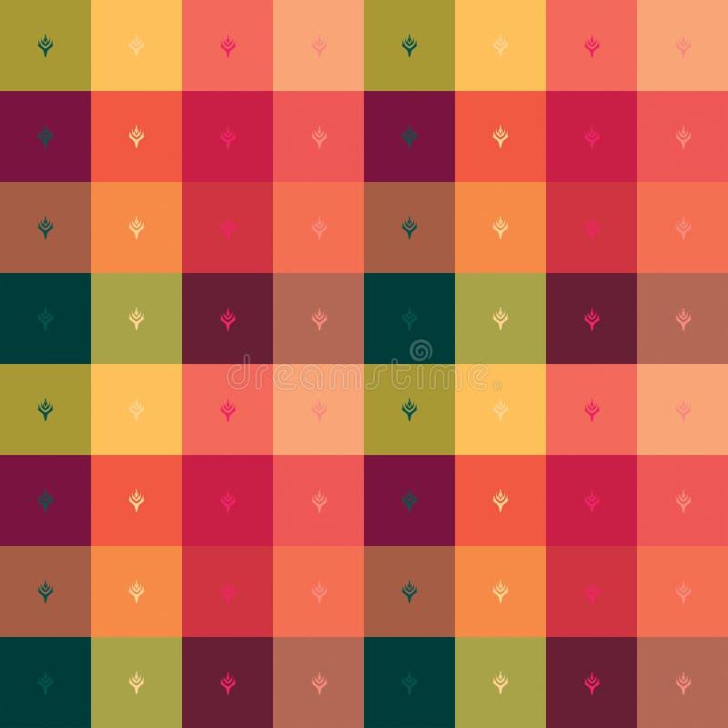 Vierkante kleurrijke achtergrond royalty-vrije illustratie