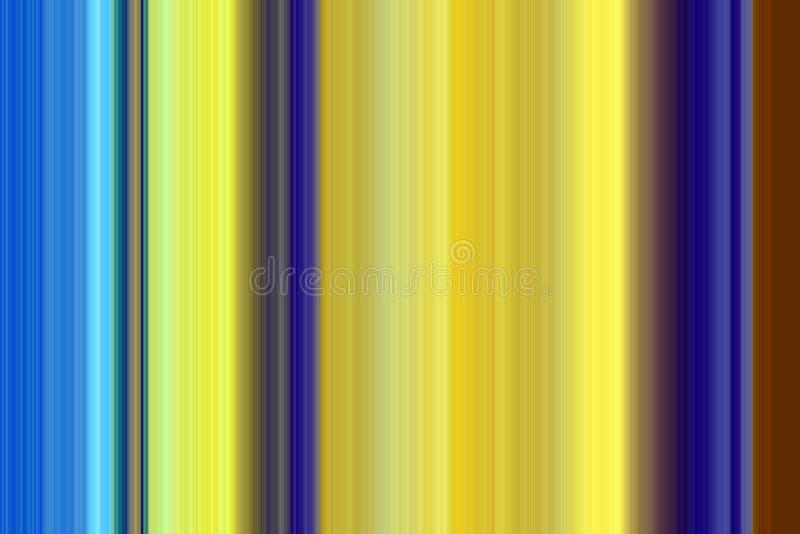 De achtergrond van contrastlijnen in gele blauwe tinten vector illustratie