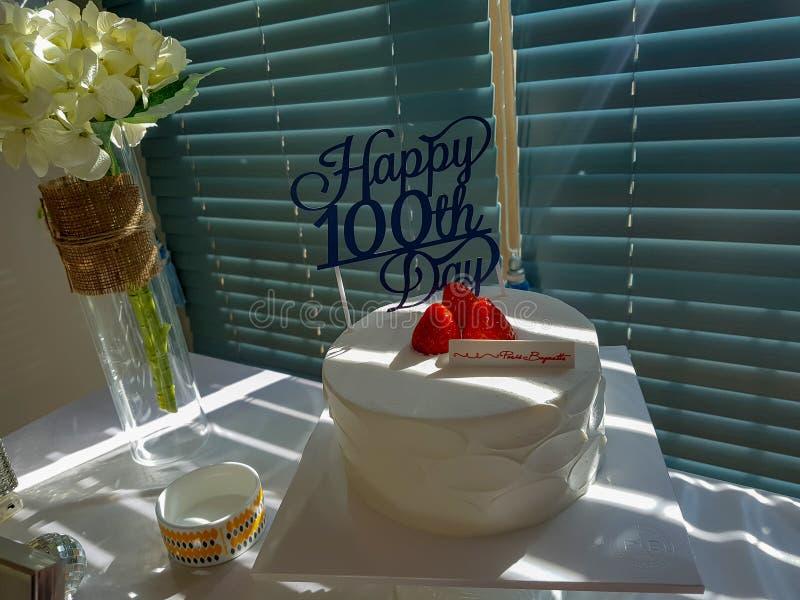100 de Achtergrond van de dagenverjaardag stock fotografie