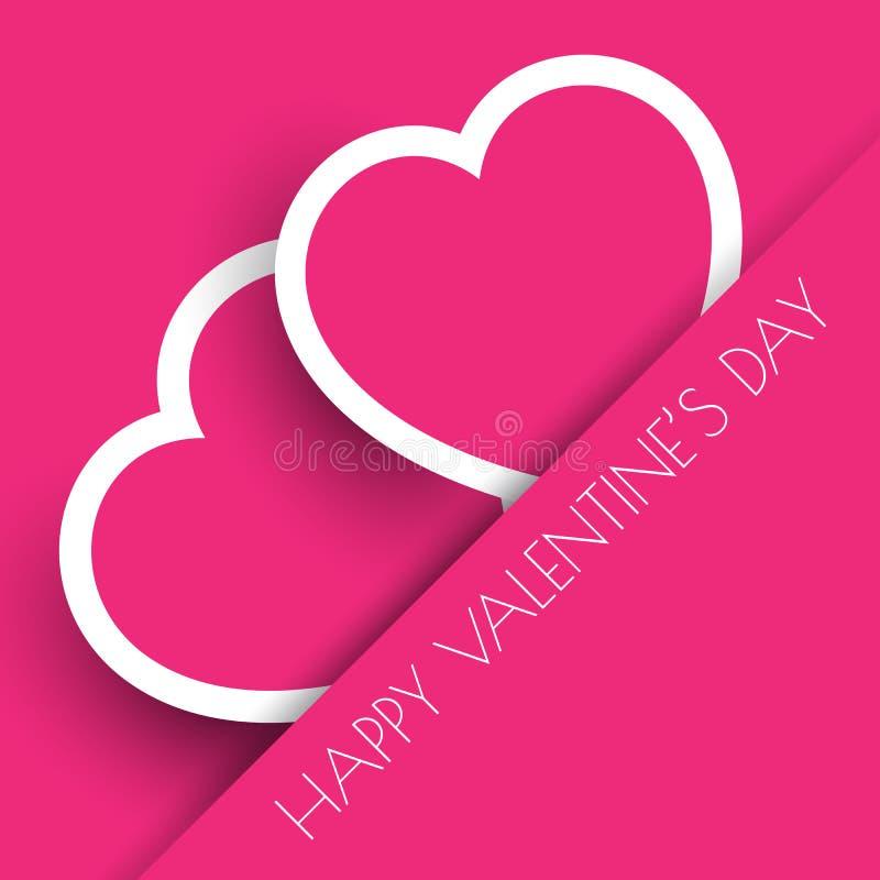 De achtergrond van de Dagharten van roze Valentine stock illustratie