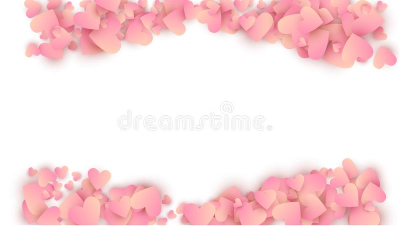 De Achtergrond van de de Dagvakantie van Valentine ` s Illustratie voor uw Ontwerp van de de Dagvakantie van Valentine ` s vector illustratie