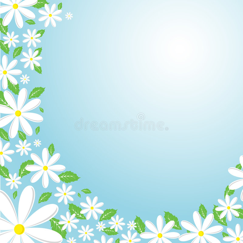 De achtergrond van Daisy royalty-vrije illustratie