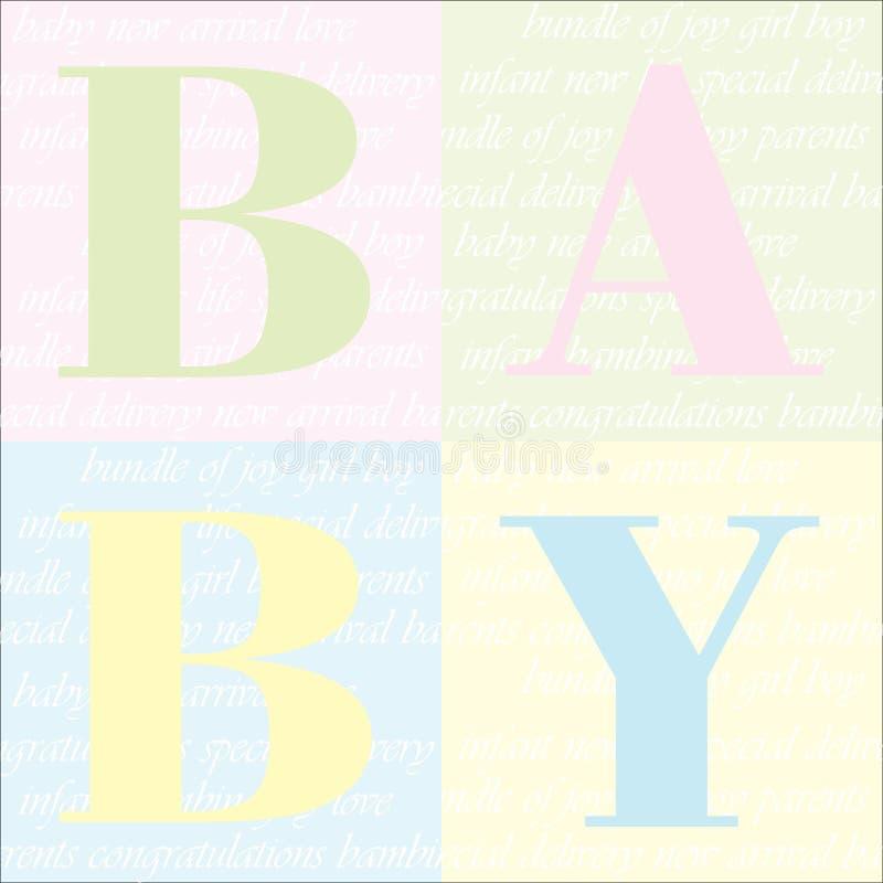De achtergrond van de Aankondiging van de Aankomst van de baby stock illustratie