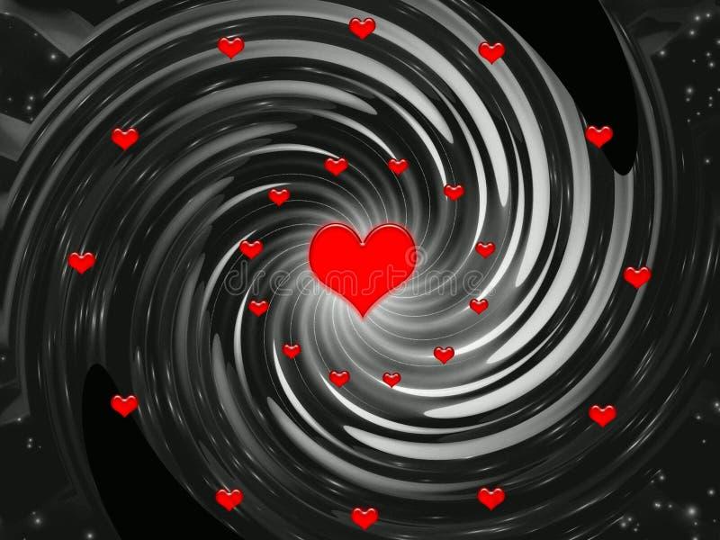 De achtergrond van de abstractie voor vakantie - de dag van Valentijnskaarten vector illustratie