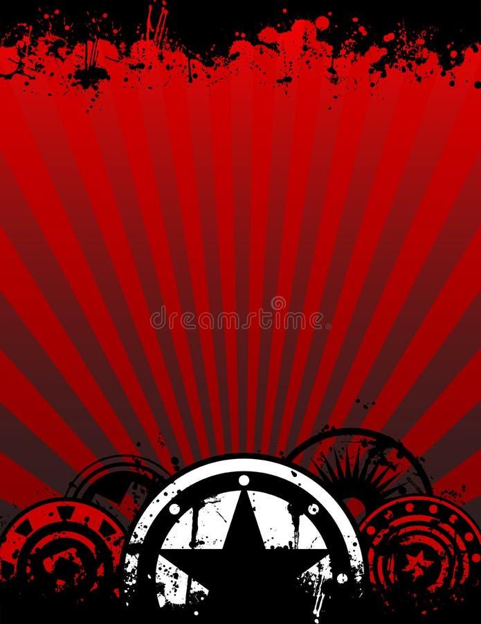 De Achtergrond van de Affiche van Grunge in Brief of A4 Formaat vector illustratie
