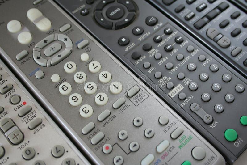 De achtergrond van de afstandsbediening stock afbeelding