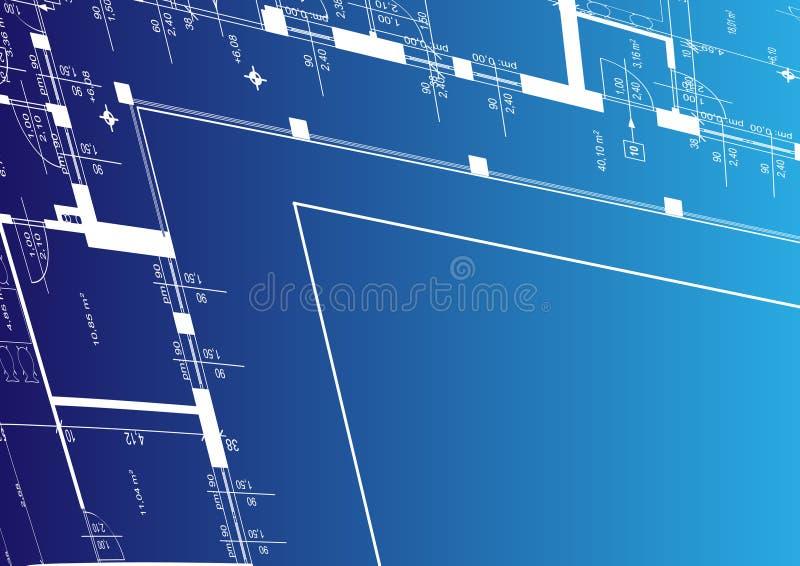 De achtergrond van de architectuur voor uw bevordering stock illustratie
