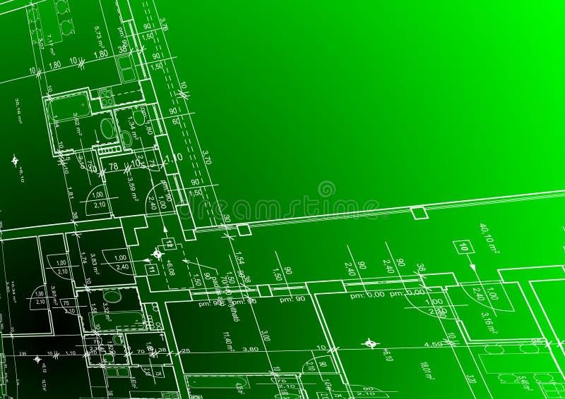 De achtergrond van de architectuur voor uw bevordering royalty-vrije illustratie