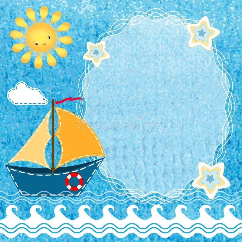 De achtergrond van de baby met frame stock illustratie