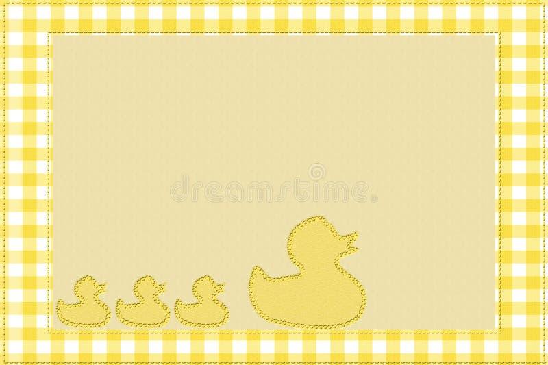 De Achtergrond van de baby voor uw bericht stock illustratie